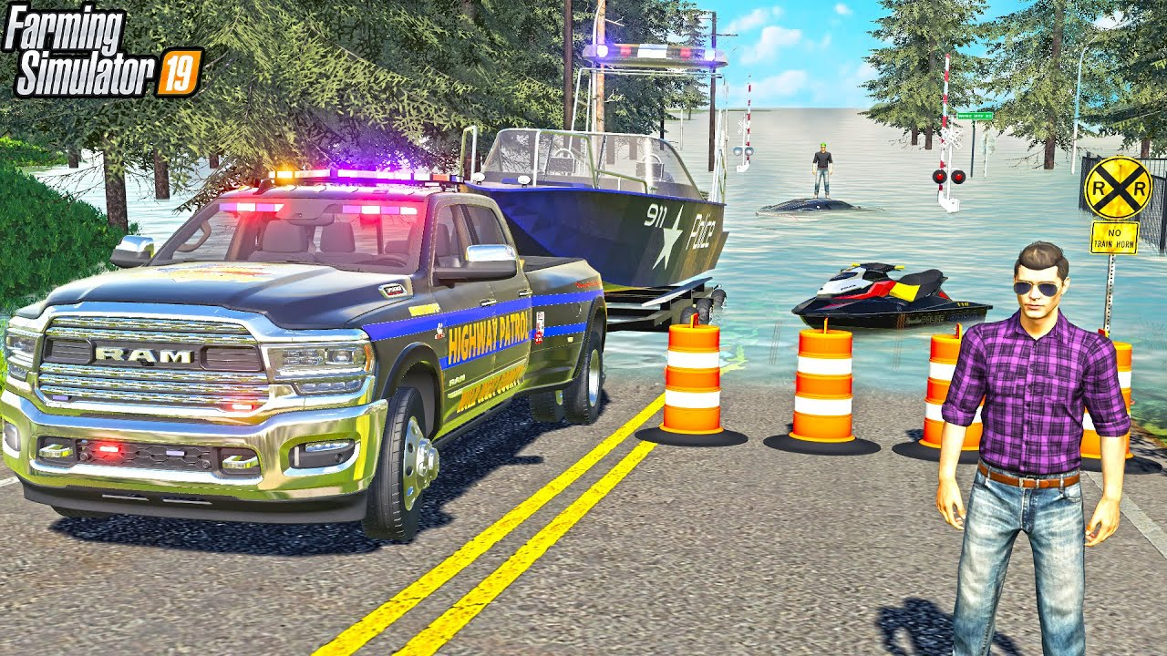 """""""STRANDED"""" IN FLOOD WATER 