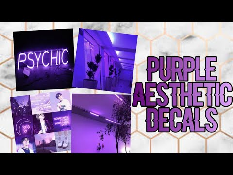 Roblox Bloxburg Purple Aesthetic Decal Id S Youtube