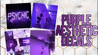 Roblox Bloxburg - Purple Aesthetic Decal Id's