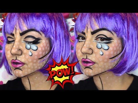 Pop Art Make up Tutorial    Αποκριάτικο Μακιγιάζ 2016