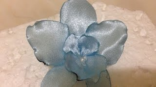 How To Make A Gorgeous Satin Ribbon Orchid Flower - Diy Crafts Tutorial - Guidecentral