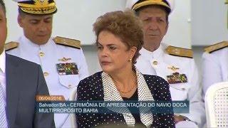 presidenta participa da cerimnia de incorporao do novo navio multipropsito da marinha