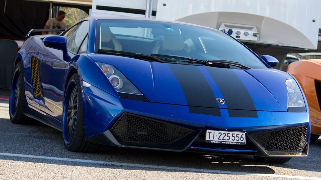 Modified Blue Lamborghini Gallardo Start Up Revs Youtube