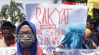 Aktivis PMII se Jawa Timur Duduki Kantor Bupati Gresik - HEBOH !