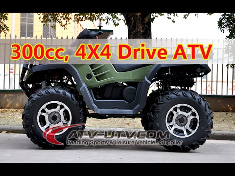300CC 4X4 Quad Bike ATV Off-road Crossing AT3004 4X4