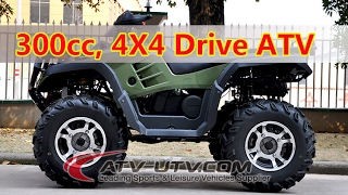 300CC 4X4 Quad Bike ATV Off-road Crossing AT3004 4X4