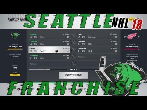 NHL 18: Seattle Franchise Mode #65 Felix Pox Trade