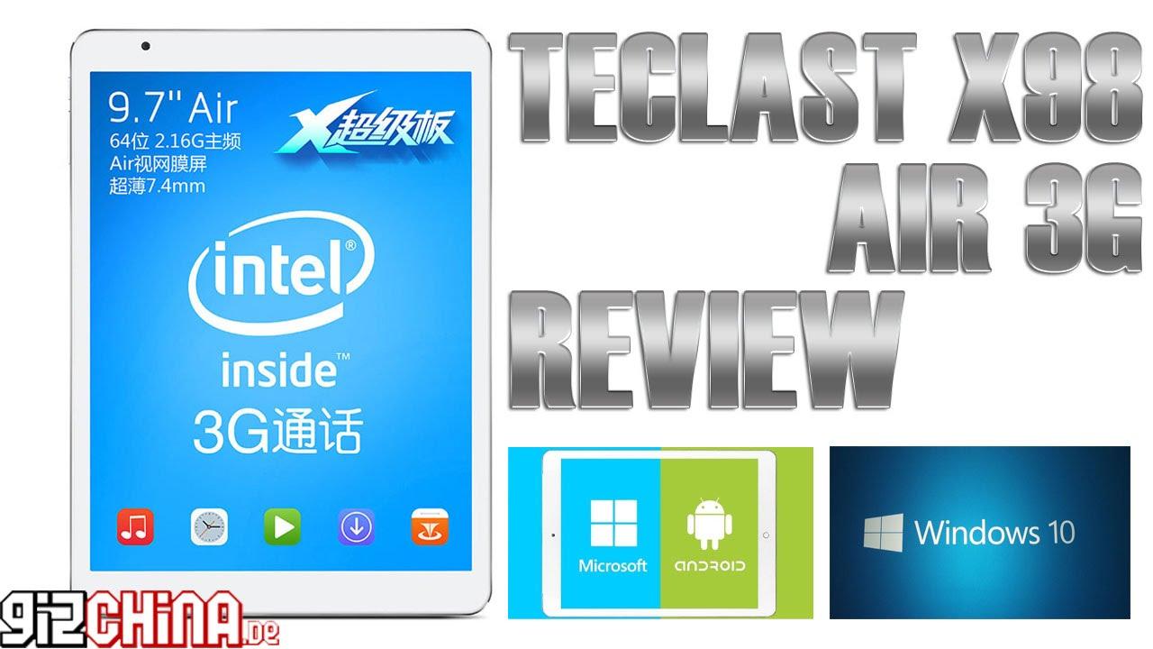 Teclast X98 Air 3G Windows 10 Review Test English