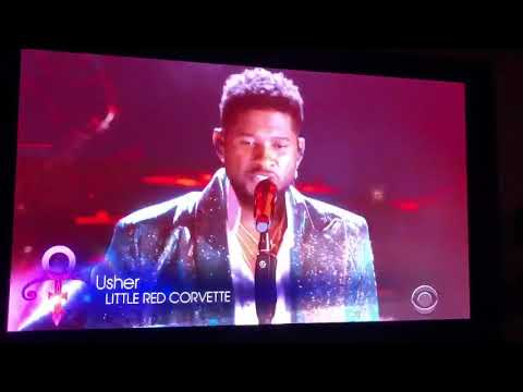 Usher Performs *Little Red Corvette* During Prince Tribute. (Amazing)