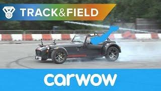 Braking Javelin: BMW M2 vs Honda Civic Type R vs Jeep SRT8 vs Caterham 620S | Track&Field