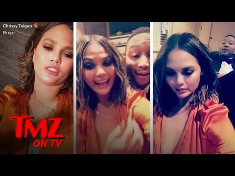 Chrissy Teigen's Drunken Snapchats Are Hilarious | TMZ TV