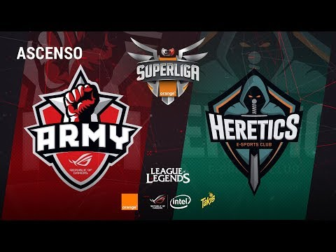 ASCENSO LOL Asus Rog Army vs Team Heretics - Mapas 1 y 2 - ASCENSOLOL