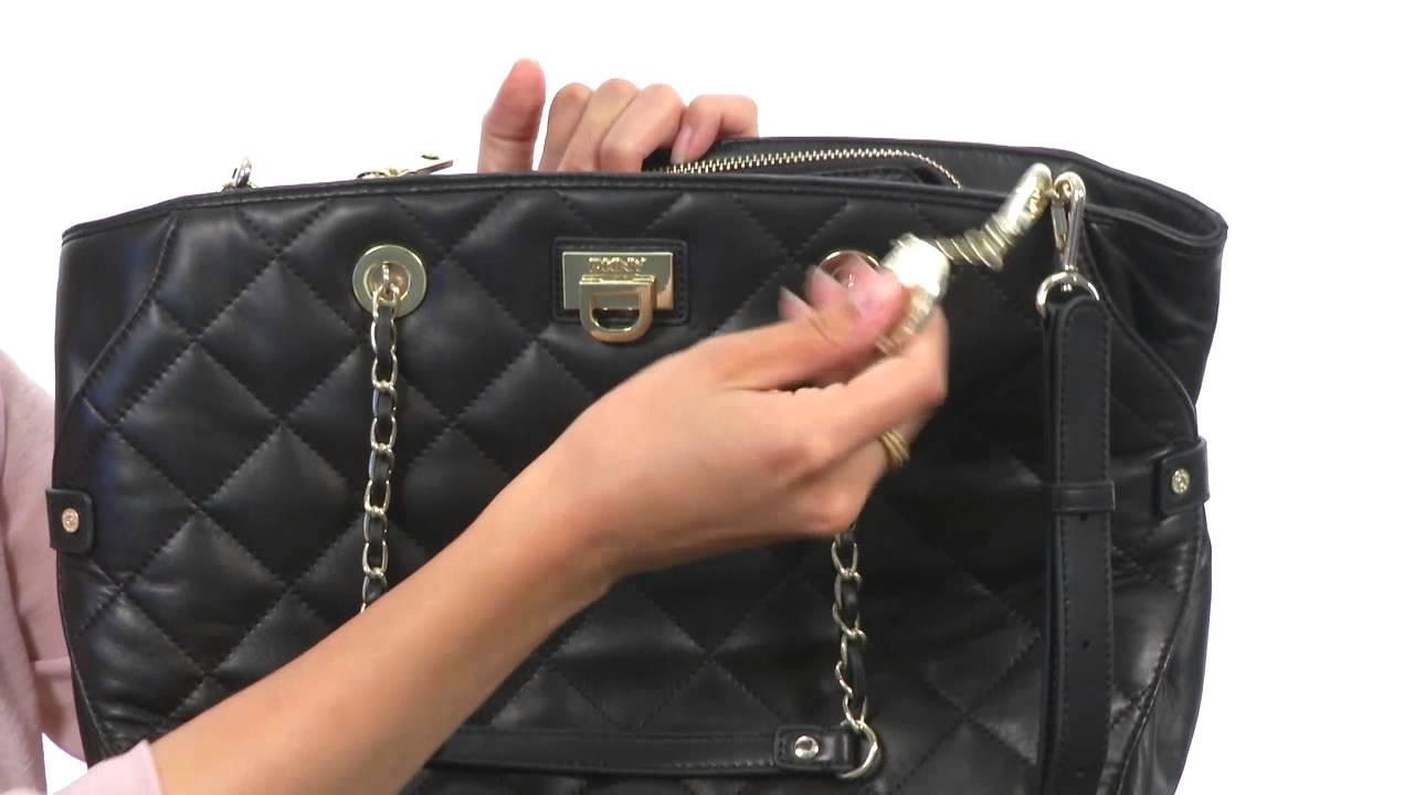 DKNY - Gansevoort - Quilted Nappa Satchel w/ SKU:#8301232 - YouTube : dkny quilted shoulder bag - Adamdwight.com