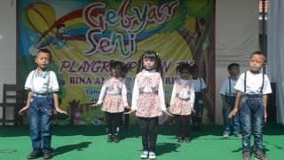 Anak play group TK nuris jember goyang pinguin