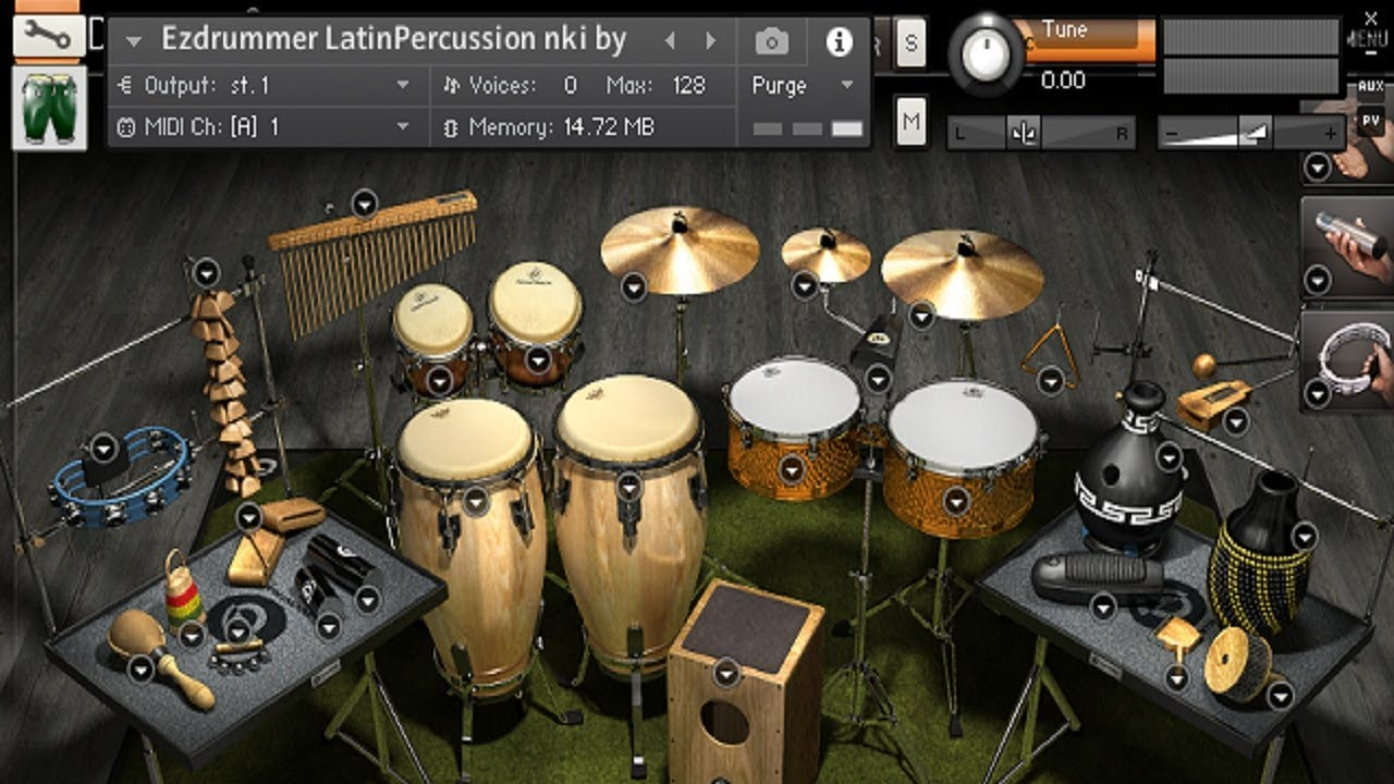Ezdrummer 2 - Latin percussion Kontakt Library - Demo