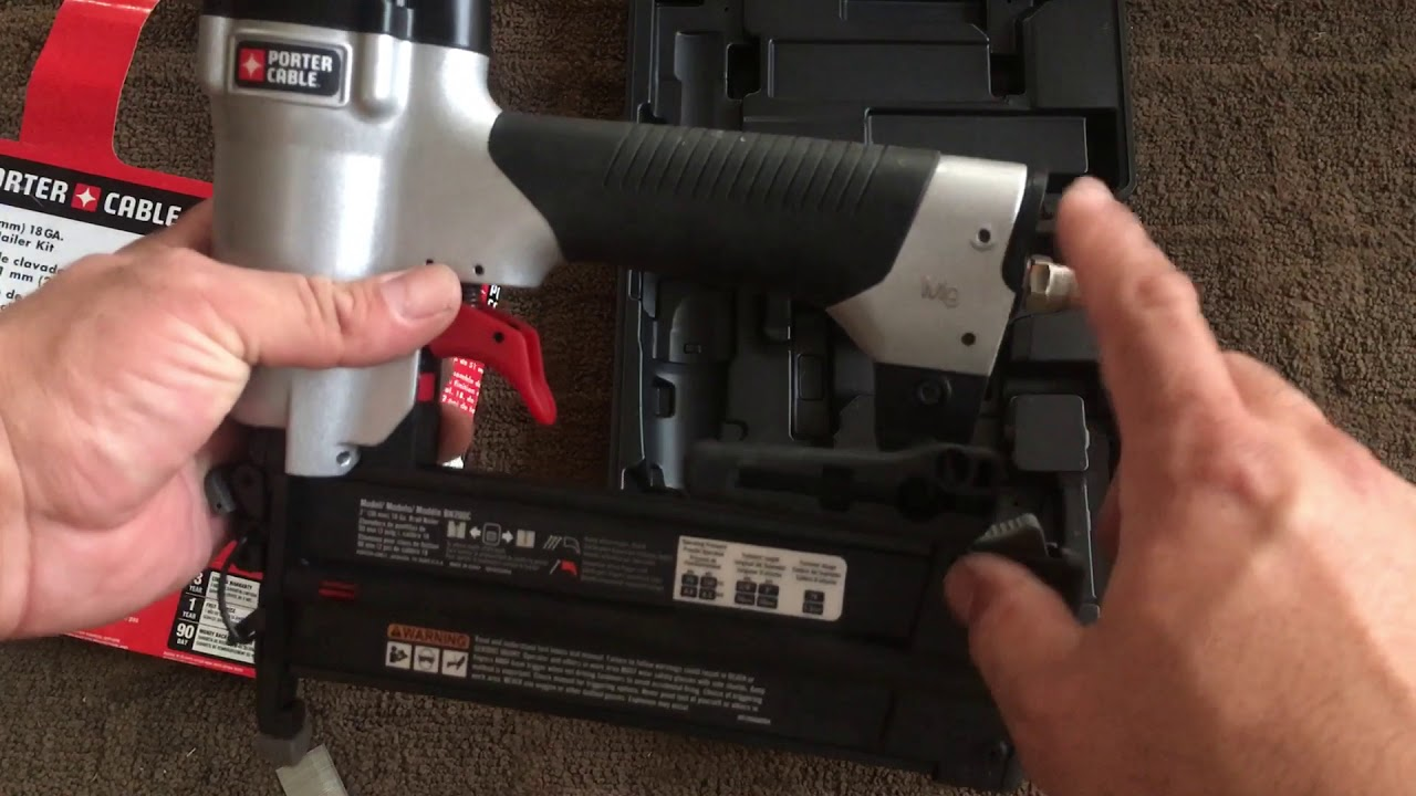 Porter Cable Brad Nailer Kit Part Bn200c Youtube