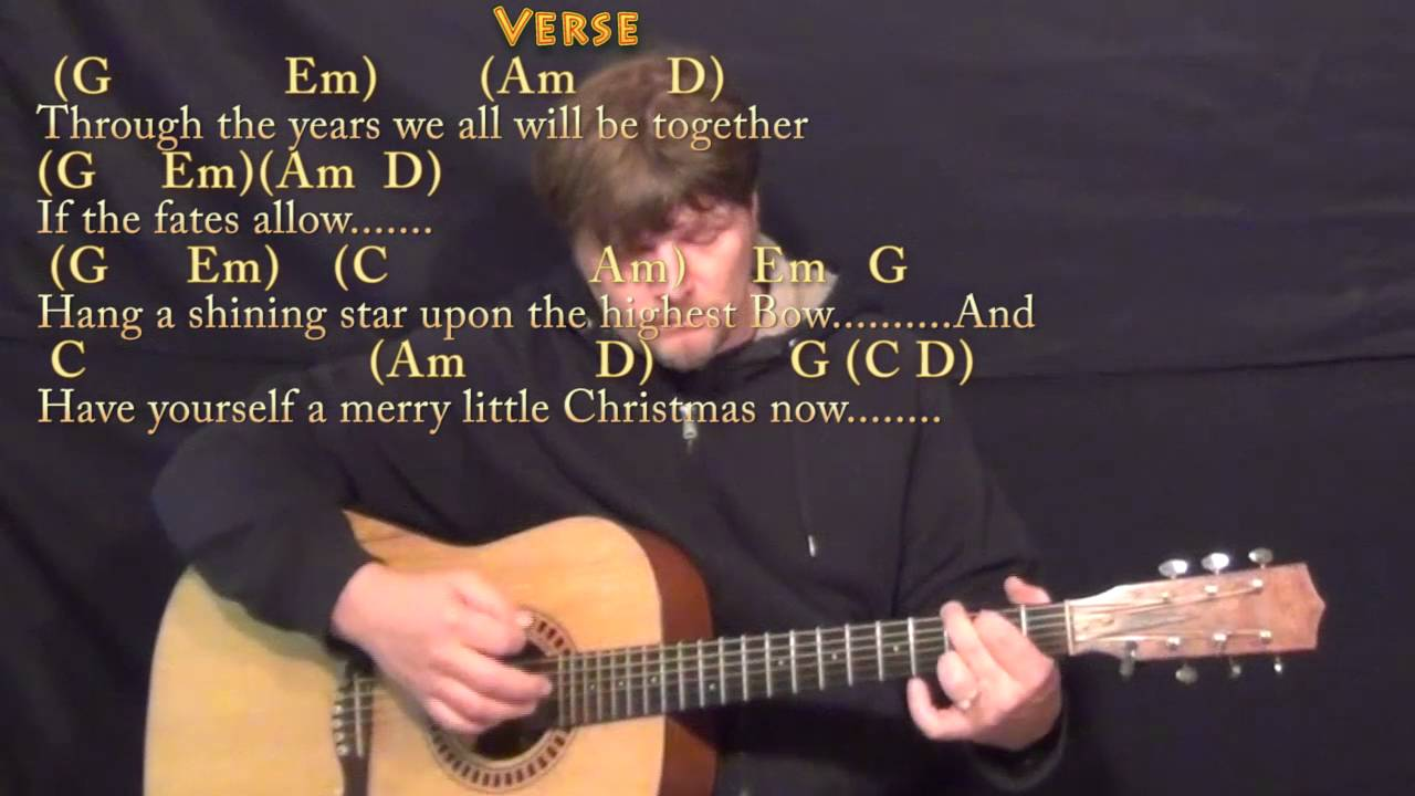 Have Yourself a Merry Little Christmas - G Major - Acoustic Guitar Instrumental Jamtrack - YouTube