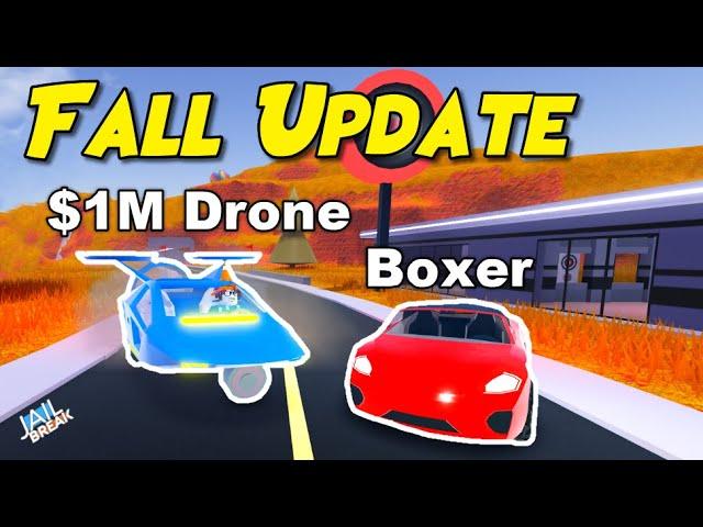 Jailbreak 1m Drone New Boxer Update Roblox Jailbreak Youtube