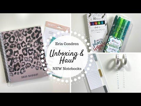 Erin Condren Haul | NEW Notebooks & More |
