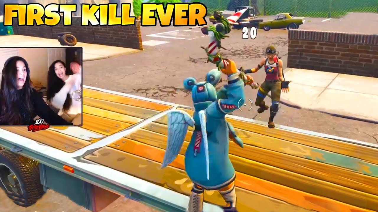 *Fortnite Player GETS FIRST KILL EVER* | LUCKIEST KILL EVER | Funny Fails & WTF Moments