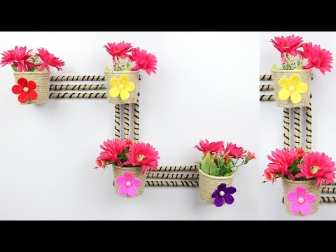 DIY Wall Decoration using jute rope and newspaper | Home decoration ideas | best out of waste