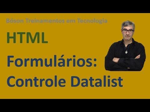 Curso De HTML E CSS   Controle Datalist   Lista De Sugestões Em Formulários