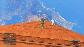 bajada desde el espacio gameplay gta 5 online funny moments carrera gta v ps4