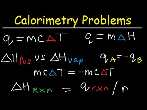 Calorimetry Problems, Thermochemistry Practice, Specific Heat Capacity, Enthalpy Fusion, Chemistry