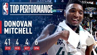 Donovan Mitchell Scores CAREER-HIGH 41 Points (Jazz Rookie Record) | December 1, 2017
