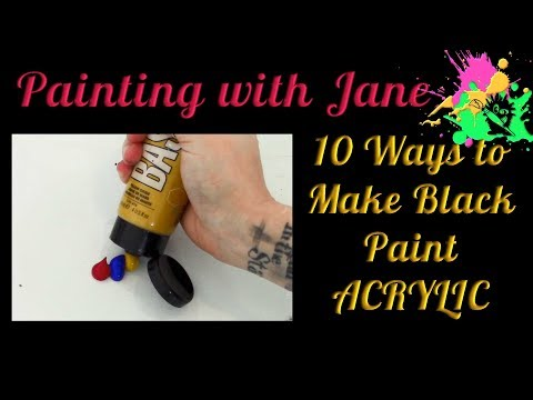 10 Ways to Make Black Paint - How to Mix Chromatic Black Paint