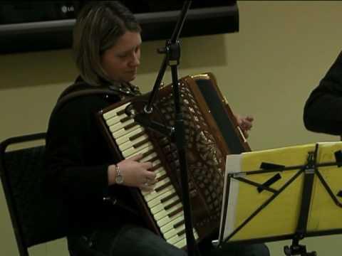 Amanda Robinson and Alan Small play at Killeter Club