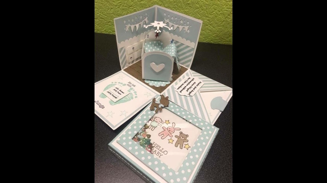 Stampin Up Explosionsbox Baby