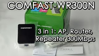 обзор comfast cf wr300n ap router repeater 300mbps