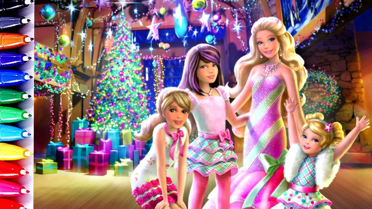 Barbie Chelsea And Her Sisters Coloring Page How To Paint Learning