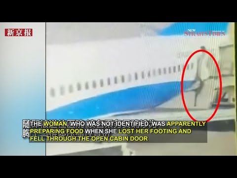 ANOTHER flight attendant falls out of stationary plane in China; breaks ribs