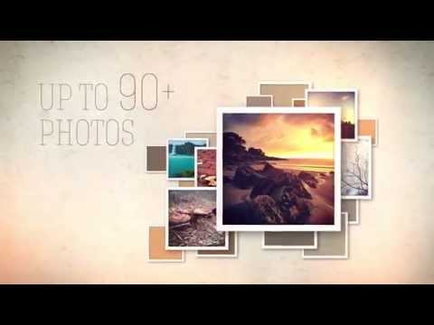 SLIDESHOW VIDEO DISPLAY - AE Template With Retro Styled Photo Frames