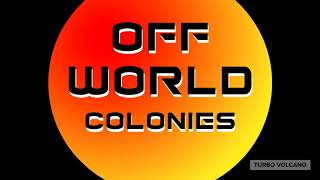 OFF WORLD COLONIES T-Shirt Science Fiction Tee launch