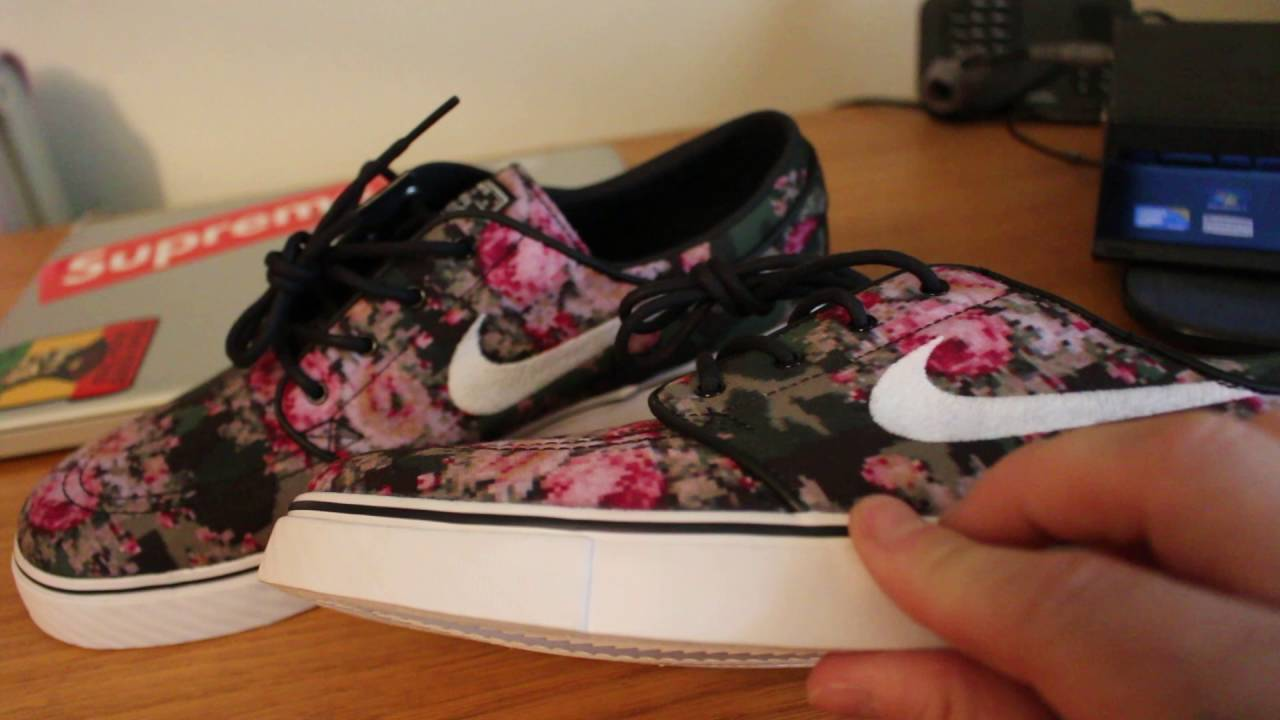 4502e311f13be Nike SB Zoom Stefan Janoski PR 'Digi-Floral' Unboxing and review ...