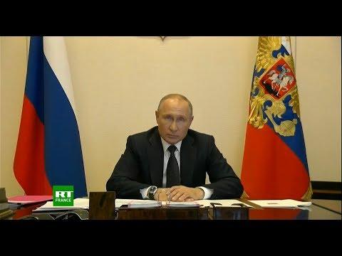 Epidémie de Covid-19: Vladimir Poutine a évoqué la situation en Russie