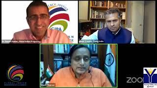 Gipa Webinar A Conversation With Dr  Tharoor   Gandhian Teachings, Blm Movement And Majoritarian Pol