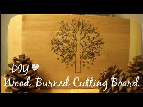 Diy Woodburned Cutting Board Great Holiday Gift Idea Youtube