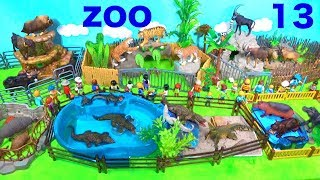 Wild Zoo Animal Toys For Kids   Learn Animal Names And Sounds   Learn Colors