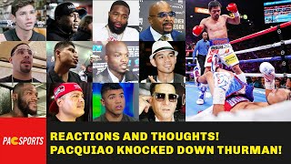 Pacquiao Vs Thurman - All Boxing Champs and Trainers REACTIONS, THOUGHTS and OPINIONS