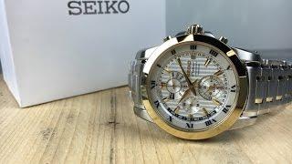 Seiko Premier Chronograph Perpetual Calendar SPC162P1 time set