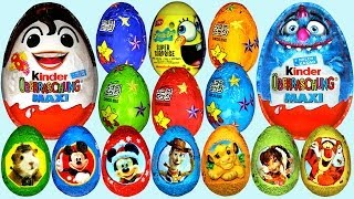 Repeat youtube video 50 Surprise eggs Kinder Surprise Cars Donald Duck Mickey Mouse