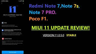 MIUI 11 Stable version 11 0.5.0 for Poco F1,Redmi note 7,Note 7s,Note 7 pro Review in Tamil