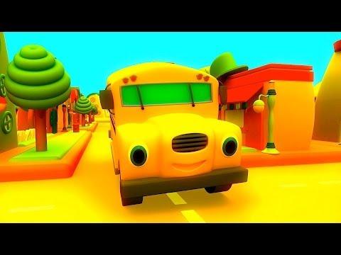 Wheels on the Bus | Nursery Rhyme with Lyrics