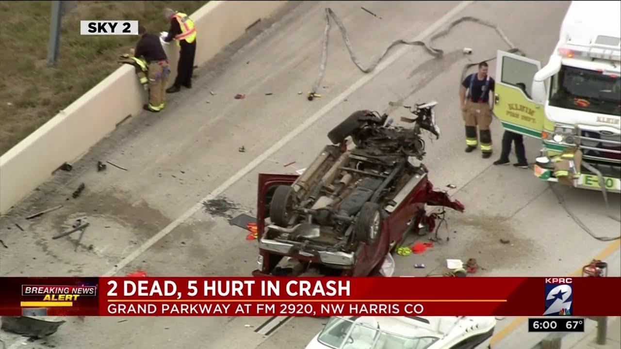 2 dead, 5 hurt in crash on Grand Parkway