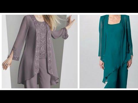 Conjuntos Elegantes De Blusas Y Pantalones Para Damas.
