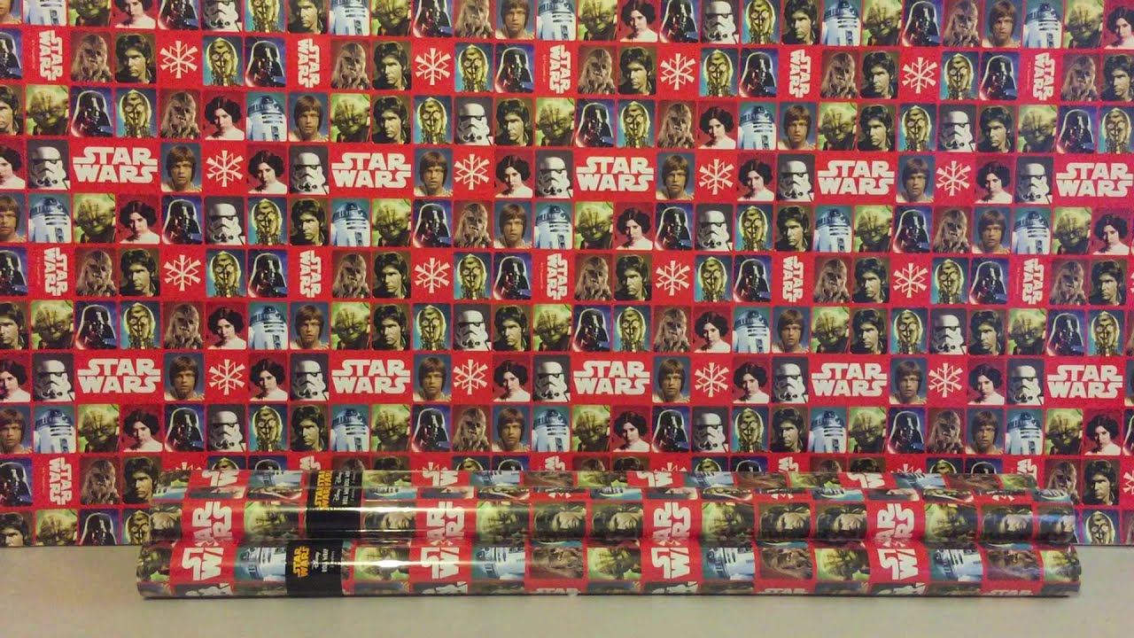 star wars wrapping paper They will have to use the force to open a present wrapped in star wars 7 the force awakens gift wrap star wars wrapping paper.